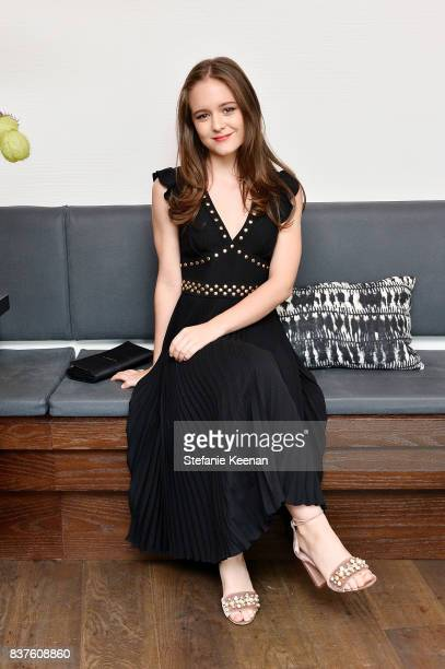 Izabela Vidovic attends Nina Dobrev celebrates the harper by Harper's BAZAAR September Issue with an Event Presented By Sephora In LA at Rosaline on...