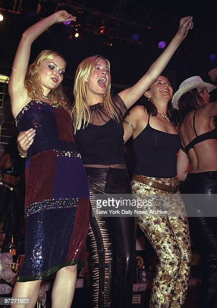 """Izabella Miko and LeAnn Rimes onstage at Roseland during party for the premiere of """"Coyote Ugly""""."""