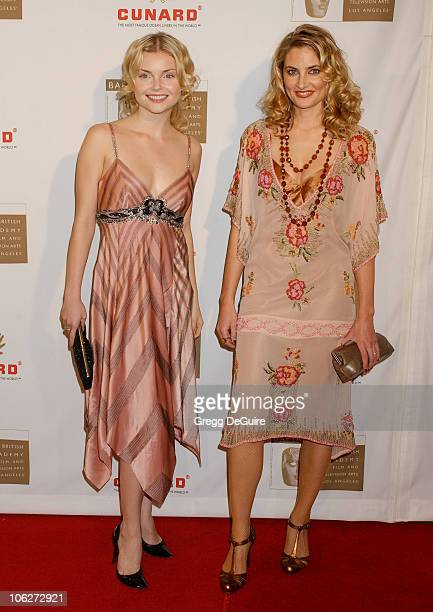 Izabella Miko and Madchen Amick during 2005 BAFTA/LA Cunard Britannia Awards Arrivals at Beverly Hilton Hotel in Beverly Hills California United...