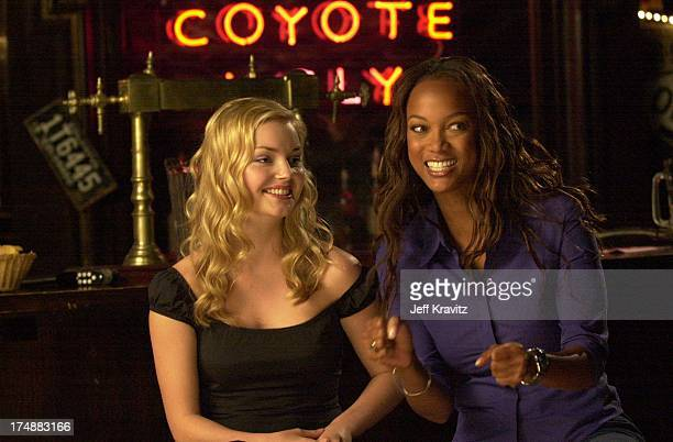 """Izabella Miko & Tyra Banks during """"Coyote Ugly"""" cast in Hollywood, California, United States."""