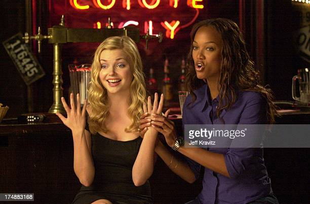 Izabella Miko Tyra Banks during Coyote Ugly cast in Hollywood California United States
