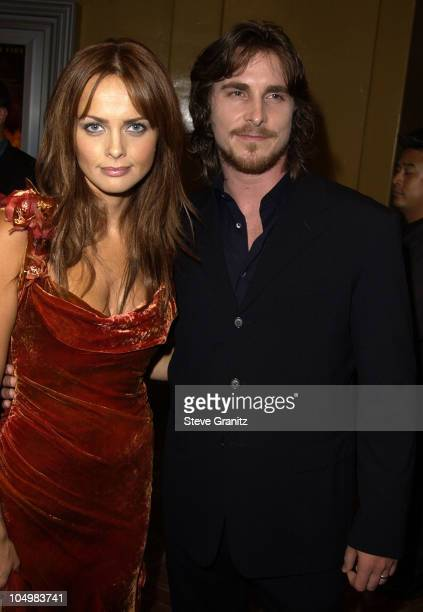 Izabella Scorupco Christian Bale during Reign of Fire Premiere at Mann's Village in Westwood California United States