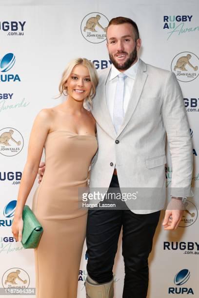 Izack Rodda and Kobe Howard at the 2019 Rugby Australia Awards at the Seymour Centre on November 14 2019 in Sydney Australia