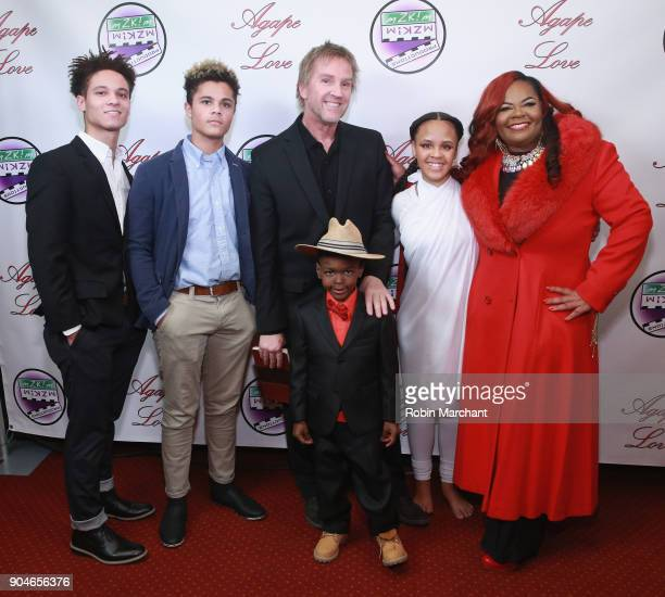 Izak Zulkowski Jakab Zulkowski Alan Zulkowski Giovanni Thomas Zulkowski Chloe Zulkowski and Kimberley T Zulkowski attends Agape Love Red Carpet on...