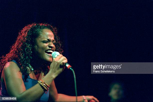 Izaline Calister, vocal, performs at the Paradiso on November 6th 2000 in Amsterdam, Netherlands.