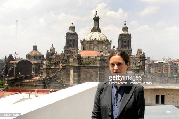 Laura Cors poses during the 'Hay Festival Queretaro 2018' press conference on July 17 2018 in Mexico City Mexico