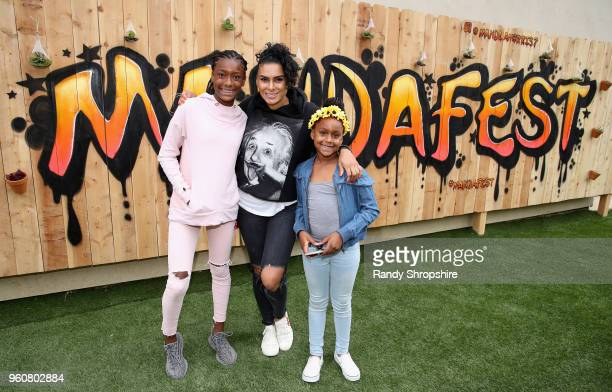 Izela Arenas TV personality Laura Govan and Hamiley Arenas attend MANDAFEST Mandla Morris' 13th Birthday Celebration on May 20 2018 in Calabasas...