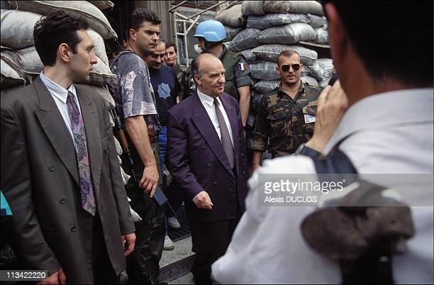 Izetbegovic In Sarajevo Paris And Rome With BH Levy G Herzog On June 1st 1993