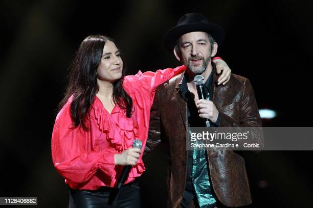 Izia Higelin and Arthur Higelin aka Arthur H attend the 34th 'Les Victoires De La Musique' Show at La Seine Musicale on February 08 2019 in...