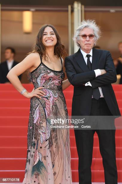 Izia Higelin and director Jacques Doillon attend the 'Rodin' screening during the 70th annual Cannes Film Festival at Palais des Festivals on May 24...