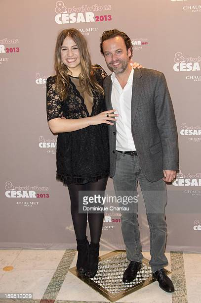 Izia Higelin and Patrick Mille attend the 'Cesar's Revelations 2013' Dinner Arrivals at Le Meurice on January 14 2013 in Paris France