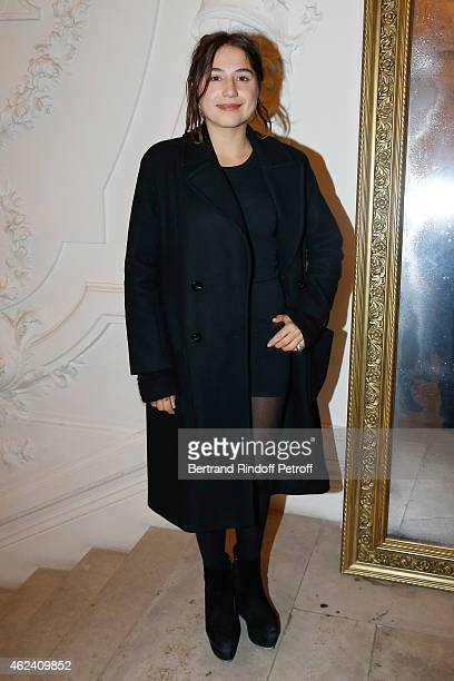 Izia Higelin attends the Jean Paul Gaultier show as part of Paris Fashion Week Haute Couture Spring/Summer 2015 on January 28 2015 in Paris France