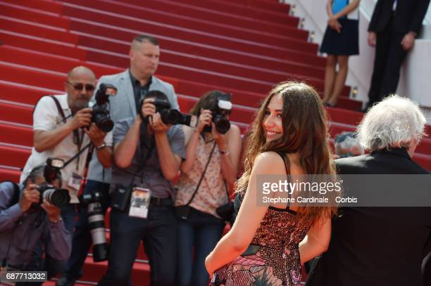 Izia Higelin attends the 'Rodin' screening during the 70th annual Cannes Film Festival at Palais des Festivals on May 24 2017 in Cannes France