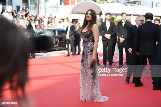 Izia Higelin departs after the 'Rodin' premiere during the 70th annual Cannes Film Festival at Palais des Festivals on May 24 2017 in Cannes France