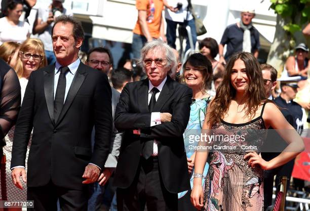 Izia Higelin director Jacques Doillon and Vincent Lindon attend the 'Rodin' screening during the 70th annual Cannes Film Festival at Palais des...