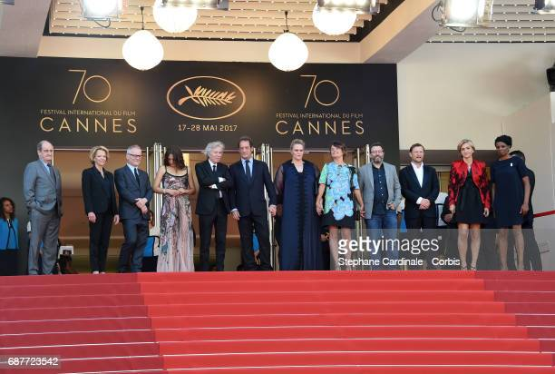 Izia Higelin director Jacques Doillon Vincent Lindon Severine Caneele Kristina Larsen and guests attend the 'Rodin' screening during the 70th annual...