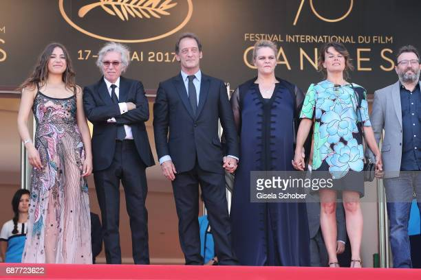 Izia Higelin director Jacques Doillon Vincent Lindon Severine Caneele Kristina Larsen and guest attend the Rodin screening during the 70th annual...