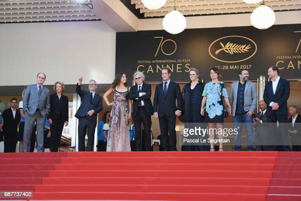 Izia Higelin director Jacques Doillon Vincent Lindon Severine Caneele Kristina Larsen and guests attend the Rodin screening during the 70th annual...