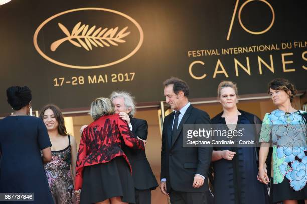 Izia Higelin director Jacques Doillon Vincent Lindon Severine Caneele and Kristina Larsen attend the Rodin screening during the 70th annual Cannes...