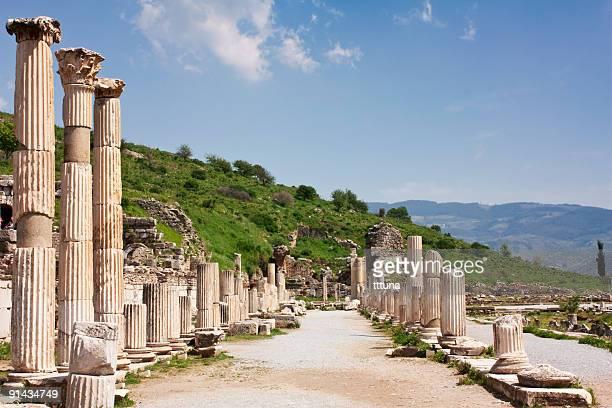 izmir ephesus antique theatre, tourism travel destination - pompeii stock photos and pictures