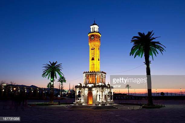 izmir saat kulesi - izmir stock pictures, royalty-free photos & images