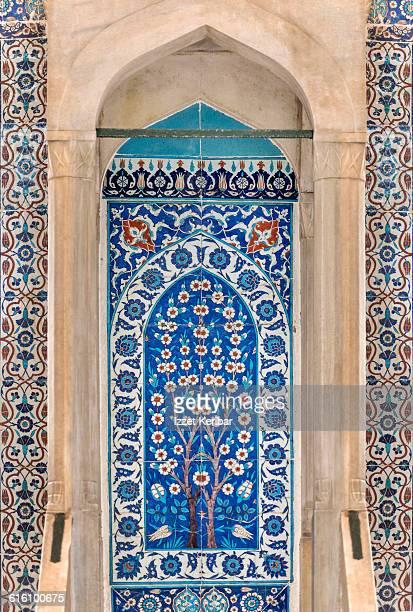 iznik panel inside mimber rustempasha mosque - ottoman empire stock pictures, royalty-free photos & images