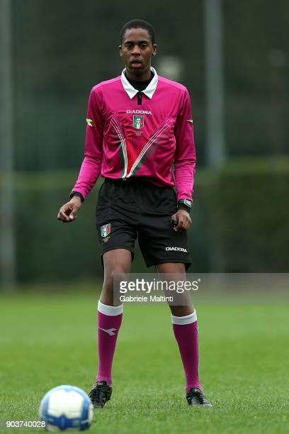 Izore Ologhola referee 'Torneo dei Gironi' Italian Football Federation U16 Tournament at Coverciano on January 11 2018 in Florence Italy