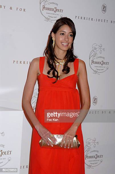 Izumi Mori attends the Perrier Jouet Champagne By For Special Vintage Launch Diner Party at the Opera Garnier on March 20 2008 in Paris France