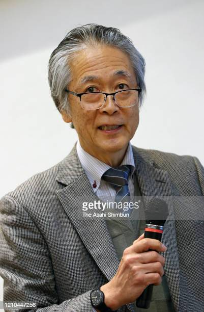 Izumi Nakai, professor emeritus of Tokyo University of Science attends a press conference at Munakata Taksha Shrine on March 1, 2020 in Munakata,...