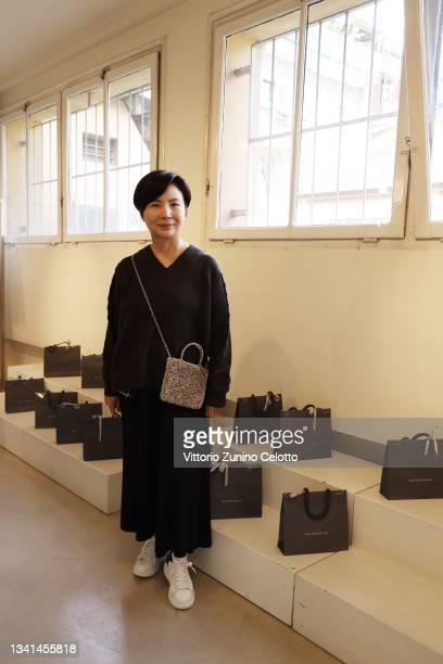 Izumi Ogino, Creative Director of Anteprima, poses during the Anteprima presentation during the Milan Fashion Week - Spring / Summer 2021 on...