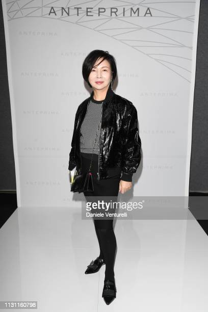 Izumi Ogino is seen backstage ahead of the Anteprima show at Milan Fashion Week Autumn/Winter 2019/20 on February 21 2019 in Milan Italy