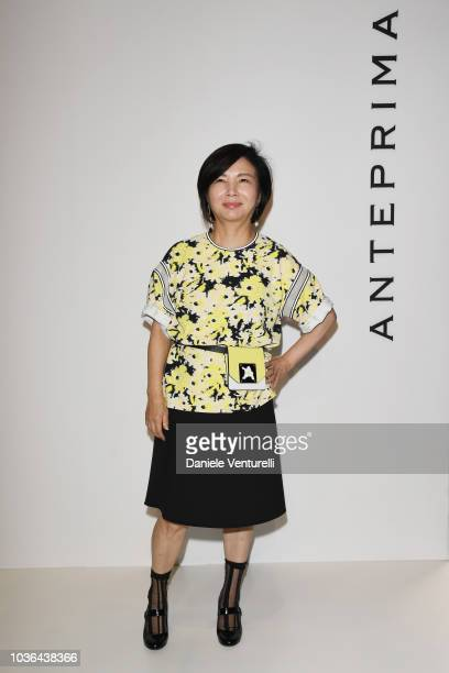 Izumi Ogino Sara Waka and a guest are seen backstage ahead of the Anteprima show during Milan Fashion Week SS 2019 on September 20 2018 in Milan Italy