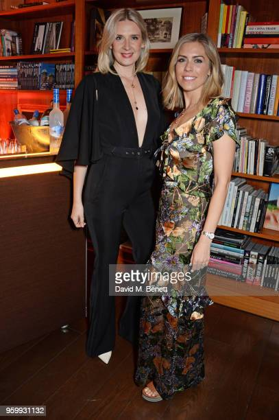 Izy and Nicki Shields attend the ABB Formula E dinner in Berlin with Emily Ratajkowski ahead of the BMW i Berlin EPrix at China Club on May 18 2018...