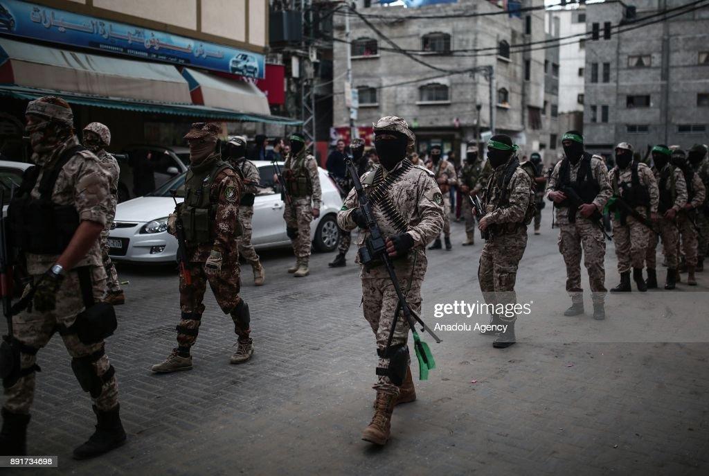 30th foundation anniversary of Hamas : News Photo