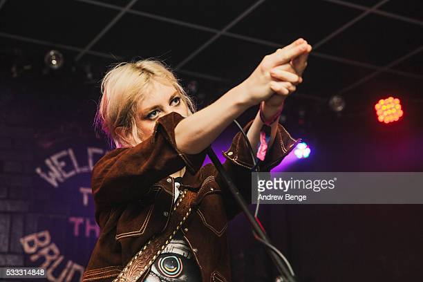 Izzy Baxter of Black Honey performs on stage during Gold Sounds Festival 2016 at Brudenell Social Club on May 21, 2016 in Leeds, England.
