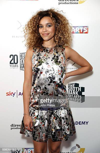 Izzy Bizu at the The South Bank Sky Arts Awards at The Savoy Hotel on June 5 2016 in London England