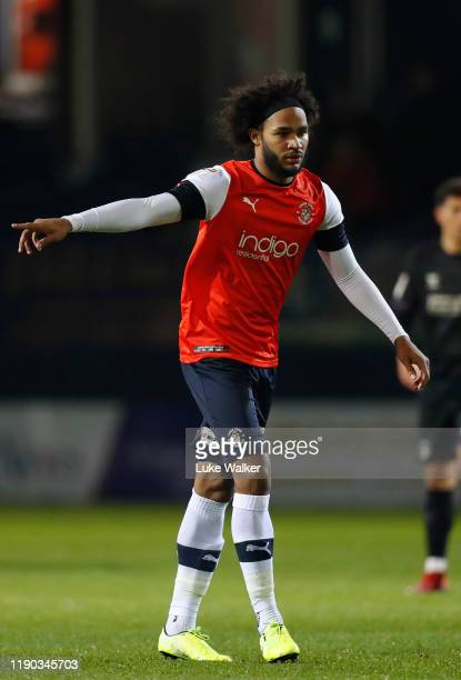 Izzy Brown of Luton Town looks on during the Sky Bet Championship match between Luton Town and Charlton Athletic at Kenilworth Road on November 26,...