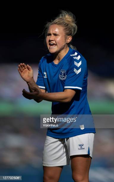Izzy Christiansen of Everton in action during the Womens FA Cup Quarter Final match between Everton FC and Chelsea FC at Goodison Park on September...