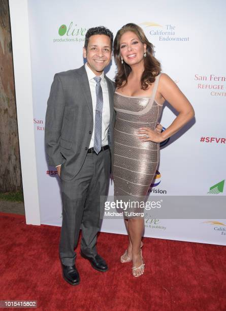 Izzy Diaz and Alex Meneses attend the Champion For Children Gala and Awards celebration at Sportsman's Lodge on August 11 2018 in Los Angeles...