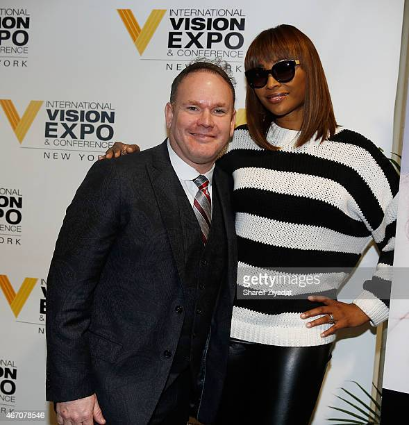 Izzy Hersh and Cynthia Bailey attend the Cynthia Bailey Eyewear Launch at Jacob Javitz Center on March 20 2015 in New York City