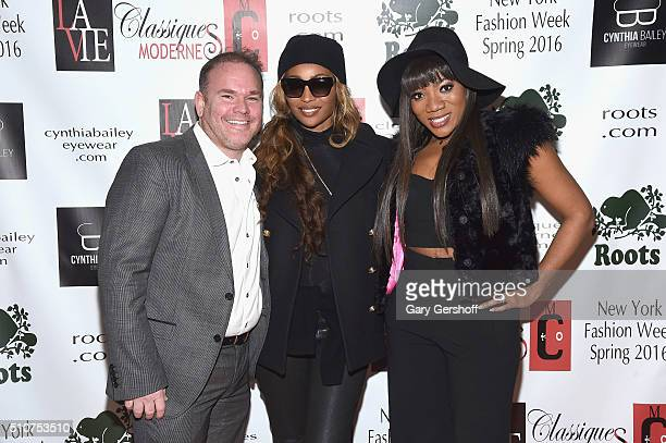 Izzy Hersh Cynthia Bailey and Tiffany Williams attend the Classiques Modernes and Roots Launch of Cynthia Bailey Eyewear during New York Fashion Week...