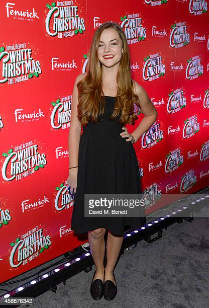 Izzy MeikleSmall arrives at the 'White Christmas' press night after party at The Bloomsbury Ballroom on November 12 2014 in London England
