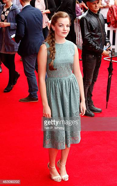 Izzy MeikleSmall attends the World Premiere of 'Pudsey The Dog The Movie' at Vue West End on July 13 2014 in London England