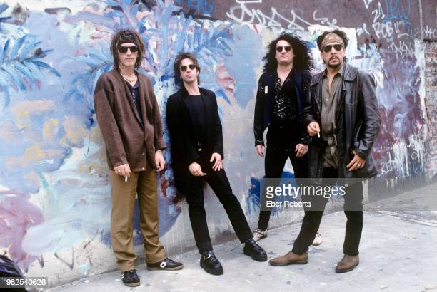 Izzy Stradlin and the Ju Ju Hounds group portrait in New York City on August 13 1992