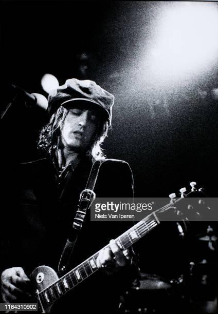 Izzy Stradlin, performing on stage, Melkweg, Amsterdam, Netherlands, 10th July 1992.