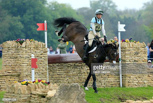 Izzy Taylor of Great Britain riding Allercombe Ellie through the 'HorseQuest Quarry' during the crosscountry test on day four of the Badminton Horse...
