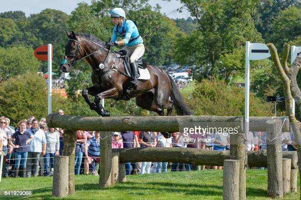 Izzy Taylor of Great Britain riding Trevidden in the Cross Country during Day Three of The Land Rover Burghley Horse Trials 2017 on September 2 2017...