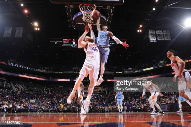 Ja Morant of the Memphis Grizzlies shoots the ball against the Phoenix Suns on December 11, 2019 at Talking Stick Resort Arena in Phoenix, Arizona....