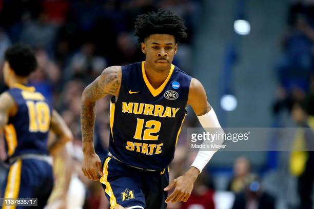 Ja Morant of the Murray State Racers in action against the Florida State Seminoles in the first half during the second round of the 2019 NCAA Men's...