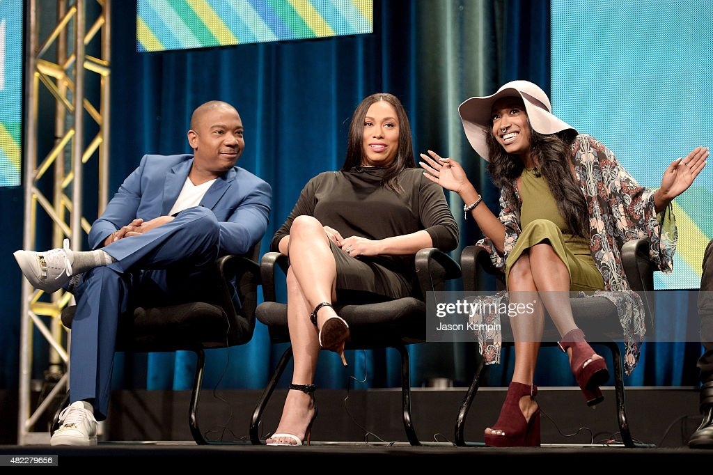 Ja Rule, Aisha Atkins and Brittney Atkins speak onstage during the 'Follow The Rules' panel at the Viacom TCA Presentation at The Beverly Hilton Hotel on July 29, 2015 in Beverly Hills, California.